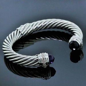 yurman 10mm amethys diamond cable classic bracelet
